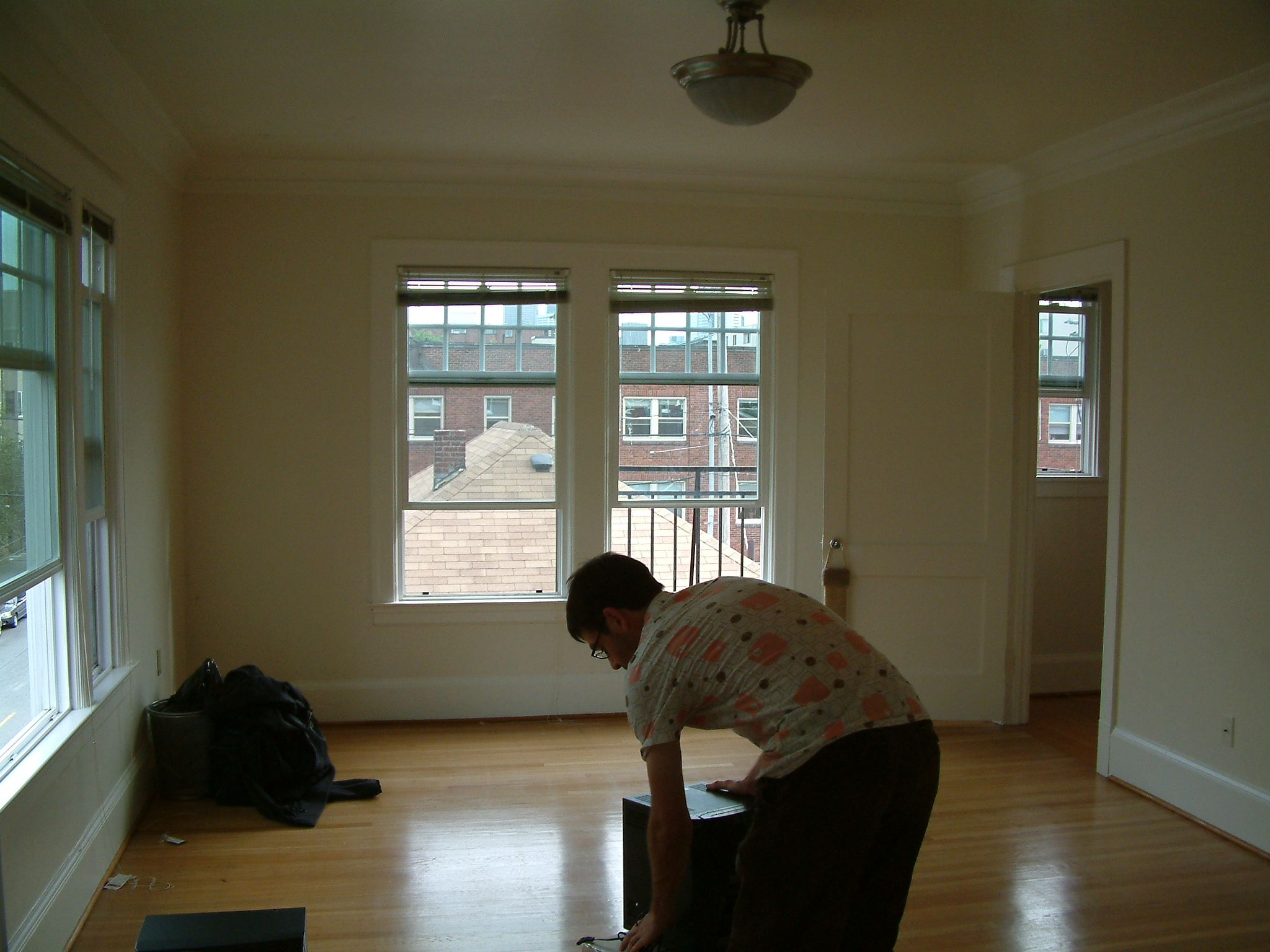 This is our one bedroom apartment, the day we moved in.